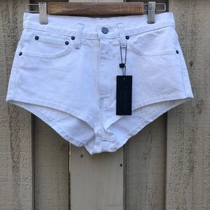 White Carmar Denim Lennox Short Shorts